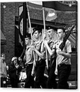Jrotc Carrying Flag In The Parade Acrylic Print