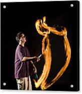 Juggling Fire Acrylic Print