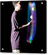 Juggling Light-up Balls Acrylic Print