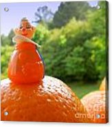 Juggling Oranges Acrylic Print
