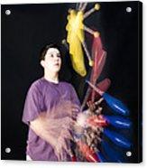 Juggling Pins Acrylic Print