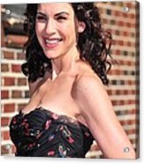 Julianna Margulies At Talk Show Acrylic Print