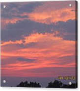 July 10 Sunset One Acrylic Print