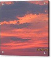 July 10 Sunset Two Acrylic Print