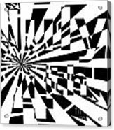 July 4th Maze Acrylic Print by Yonatan Frimer Maze Artist