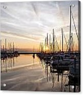 July Evening In The Marina Acrylic Print