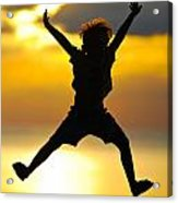 Jumping Boy Acrylic Print