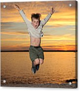 Jumping For Joy Acrylic Print by Ted Kinsman