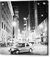 Junction Of Salisbury Road And Nathan Road Tsim Sha Tsui Kowloon At Night Hong Kong Hksar China Asia Acrylic Print