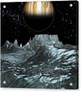 Jupiter From Europa, Artwork Acrylic Print