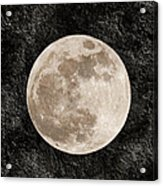 Just A Little Ole Super Moon Acrylic Print by Andee Design
