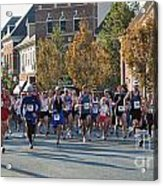 Just After The Gun At A Running Race On A Town Street Acrylic Print