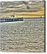 Just Sailing By Grunge Acrylic Print