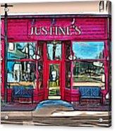 Justine's Ice Cream Parlour Acrylic Print