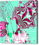 Kabuki . Square Acrylic Print by Wingsdomain Art and Photography