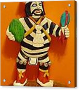 Kachina Clown  Acrylic Print by Russell Ellingsworth