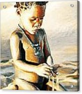 Kalahari Little Boy Acrylic Print