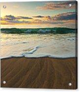 Kalalau Beach Sunset Acrylic Print by Buck Forester