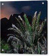 Kalalau Mountains At Night Acrylic Print