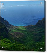 Kalalau Valley 3 Acrylic Print by Ken Smith
