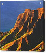 Kalalau Valley Sunset In Kauai Acrylic Print
