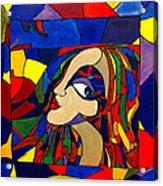Kaleidoscope Girl Acrylic Print