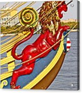 Kalmar Nyckel Red Lion Acrylic Print