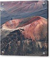Kamaolii Cinder Cone - Haleakala Crater - View From Kalahaku  Acrylic Print