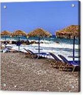 Kamari - Santorini Acrylic Print