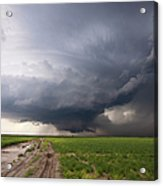 Kansas Distant Tornado Vortex 2 Acrylic Print by Ryan McGinnis