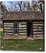 Kansas Log Cabin Acrylic Print