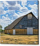 Kansas Stone Barn Acrylic Print