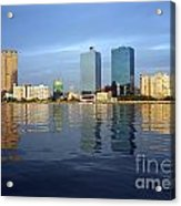 Kaohsiung City Waterfront In The Late Afternoon Acrylic Print