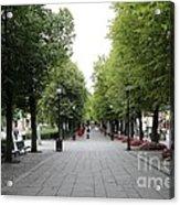 Karl Johans Gate Acrylic Print