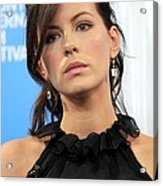 Kate Beckinsale At The Press Conference Acrylic Print by Everett
