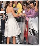 Kate Beckinsale Wearing An Elie Saab Acrylic Print