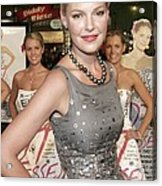 Katherine Heigl Wearing A Bill Blass Acrylic Print by Everett