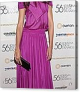 Katie Holmes Wearing A Holmes & Yang Acrylic Print by Everett
