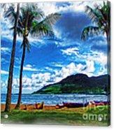 Kauai Beach And Palms Acrylic Print