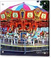 Kauai Carousel At Dusk Acrylic Print
