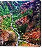 Kauai River Canyon Acrylic Print