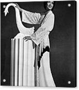 Kay Francis Modeling White-crepe Acrylic Print