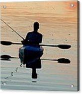 Kayak Fisherman Acrylic Print