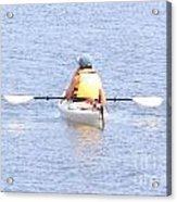 Kayaker Resting On The Water Acrylic Print