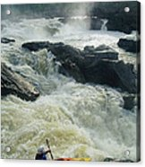 Kayaker Running Maryland Side Of Great Acrylic Print