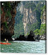 Kayaking In Thailand Acrylic Print
