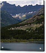 Kayaks On Swiftcurrent Lake Acrylic Print