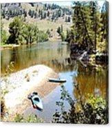 Kayaks On The Kettle Acrylic Print
