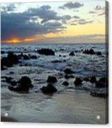Keaweakapu Beach Sunset Acrylic Print