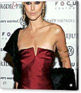 Keira Knightley Wearing A Calvin Klein Acrylic Print by Everett